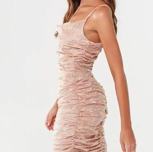 Missguided tropical print velvet dress